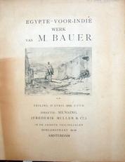 M.Bauer,Egypte-Voor-Indie.