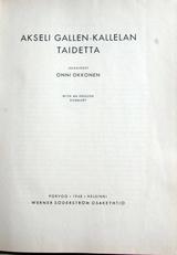 Akseli Gallen-Kallelan Taidetta