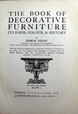 The Book of Decorative Furniture,its form,colour & history