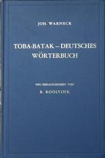 Toba-Batak-Deutsches Worterbuch