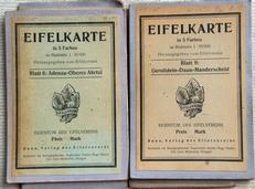 Eifelkarte in 5 Farben  1: 50.000 Blatt 6 und 9