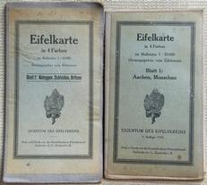Eifelkarte in 4 Farbe Blatt 1 und 2