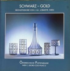 Schwartz - Gold, Bronzitdekore von J.L.Lobmeyr
