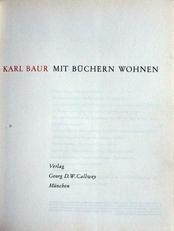 Mit Buchern Wohnen,Living with books.