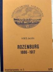 Rozenburg 1886-1917,Inventarisreeks nr 5