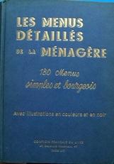 Les Menus Detailles de la Menagere (180 menus)