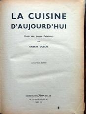 La cuisine D'Aujourd ' Hui