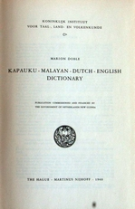 Kapauku-Malayan-Dutch-English dictionary