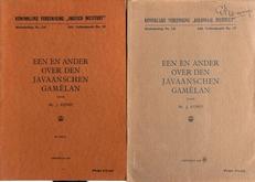 Een en ander over den Javaanschen Gamelan 3 boekjes