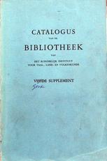 Catalogus van de bibliotheek van het Koninklijk inst.
