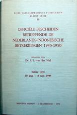 Officiele  bescheiden Nederlands-Indonesische Betrekkingen.