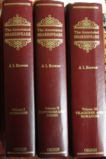 The annotated Shakespeare,complete works 3 volumes.