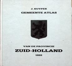 Gemeente atlas van de provincie Zuid-Holland.