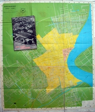 Vaco kaart van Paramaribo.1978.