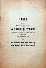 Rede van den Fuhrer en Rijkskanselier.