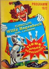 Programmheft Circus Willy Hagenbeck 1972