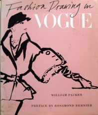 Fashion drawing in Vogue.