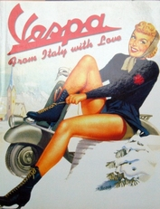 Vespa,from Italy with love.