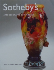 Sotheby's, Arts decoratifs du XX siecle.
