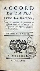 Accord de la foi avec la raison.1757.