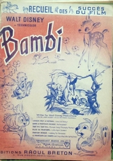 Bambi ,recueil des succes du film.
