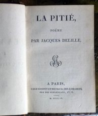 La Pitie poeme en quatre chants et dithyrambe.