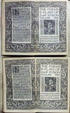 The poems & plays of Lord Byron.Volume 1 and 2.