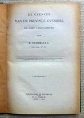 De grenzen van de provincie Overijsel.