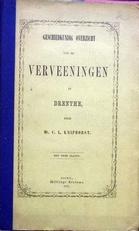 Geschiedkundig overzicht van de verveeningen in Drenthe.