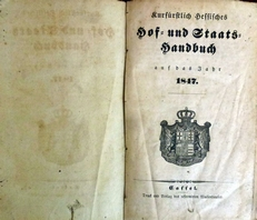 Kurfurstlich Hessisches Hof- ind Staats-Handbuch 1847.