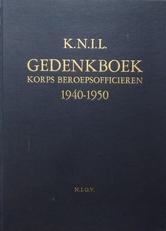KNIL Gedenkboek korps beroepsofficieren 1940-1950.