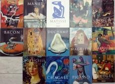 serie van 14 kunstboeken o.a. Duchamp,Bacon,Klimt,Chagall .