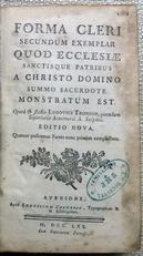 Forma Cleri,secundum exemplar Quod Ecclesiae.