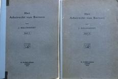 Het Adatrecht van Borneo.  2 Delen.