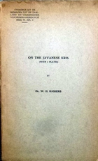 On the Javanese kris.