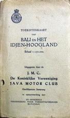Toeristenkaart van Bali en het Idjen-Hoogland.