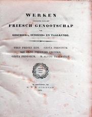 Werken uitg. door het Friesch Genootschap,1853
