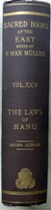 Sacred Books of the East.The Laws of Manu.