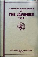 Somatical investigation of Tha Javanese 1929.
