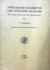 Twee Maleise geschriften van Nuruddin Ar-Raniri.