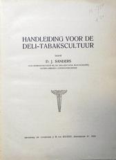 Handleiding voor de Deli-Tabakscultuur.