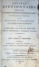 Nouveau Dictionnaire portatif Francois-Allemand, et Allemand