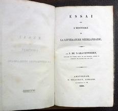 Essai sur l'histoire de la littérature néerlandaise.