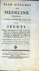 Plan détudes de medecine propose a l'universite de Louvain
