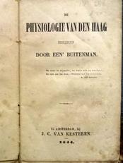 De physiologie van Den Haag bekeken door een buitenman.