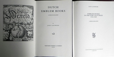 Dutch emblem books & Emblem books in the low countries.2vol.