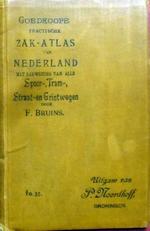 Goedkoope practische zak-atlas van Nederland.