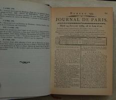 Journal de Paris,La revolution Francaise au jour le jour